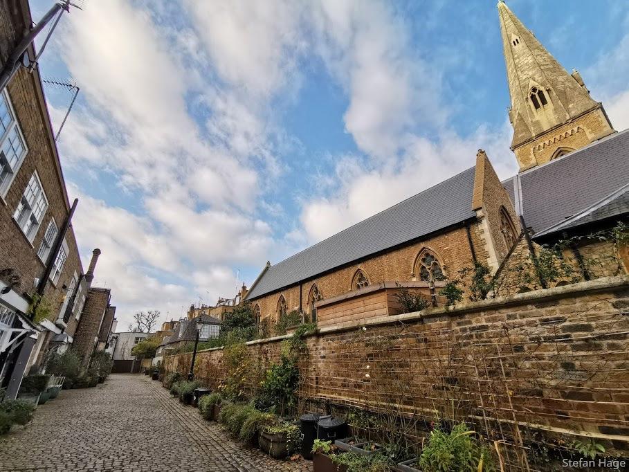 Kynance Mews Londen kerk