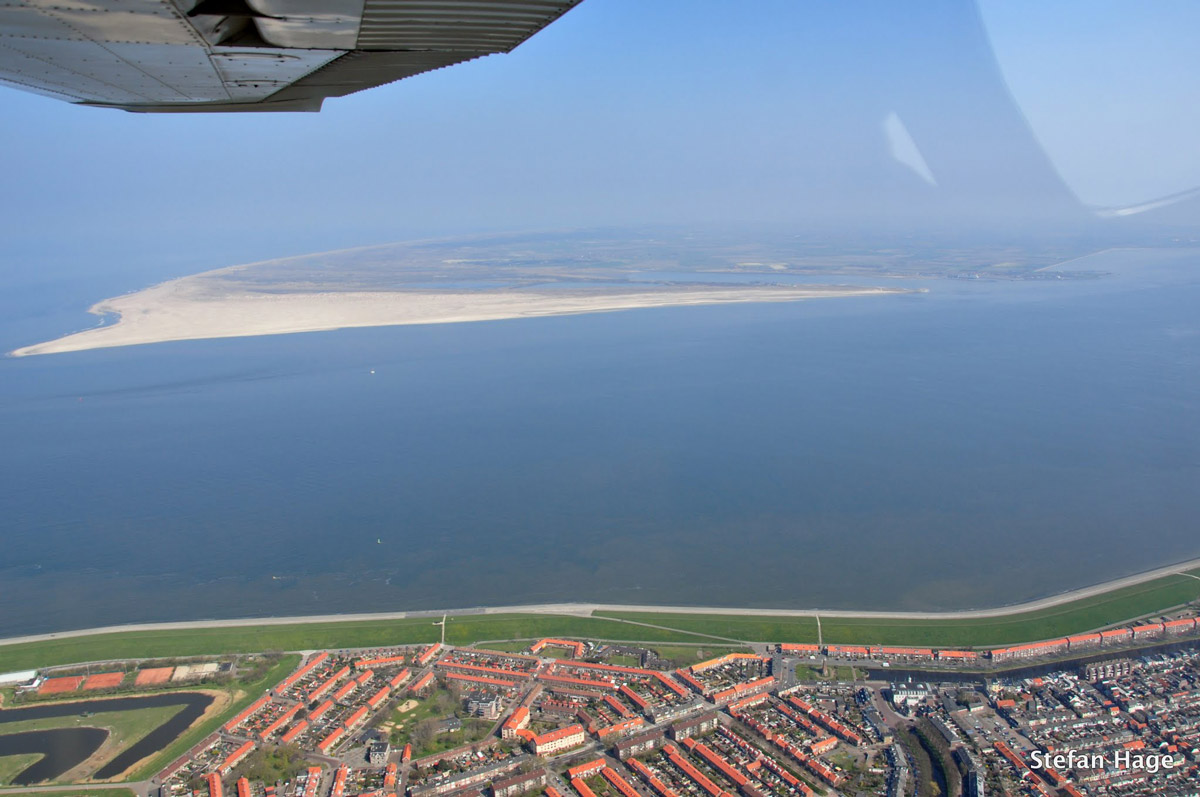 Texel vanuit vliegtuig