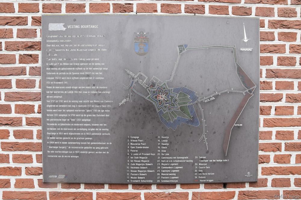 Vesting Bourtange plattegrond