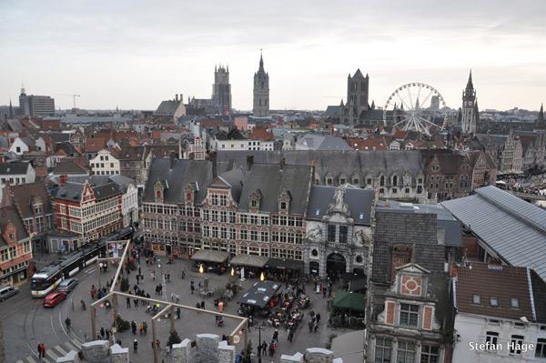 Gent uitzicht Gravensteen