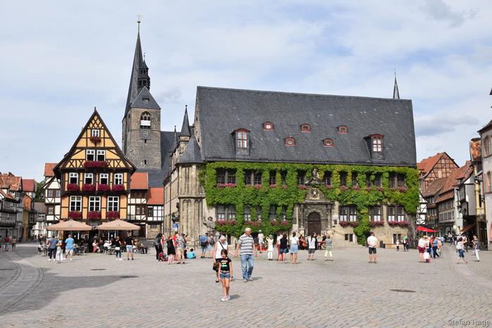 Quedlinburg Rathaus Marktplatz